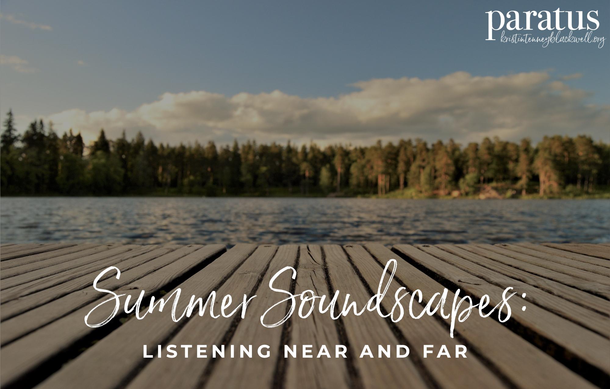 Summer soundscape on a lake
